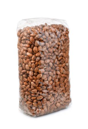 pinto bean: Pinto bean packet isolated on white