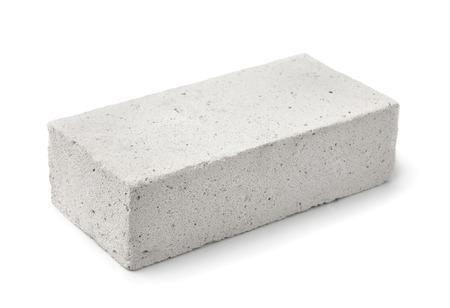 cemento: Ligera bloque de yeso espuma aislado en blanco
