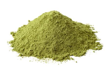 Pile of dry henna powder isolated on white