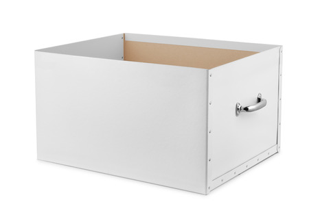 Open Storage Box Isolated On White Stock Photo   83018755