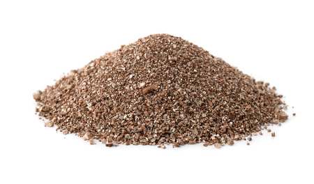 Pile of vermiculite isolated on white