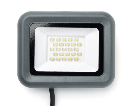 Front view of wall  LED flood light isolated on white