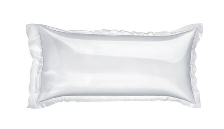 Inflatable air buffer plastic bag isolated on white