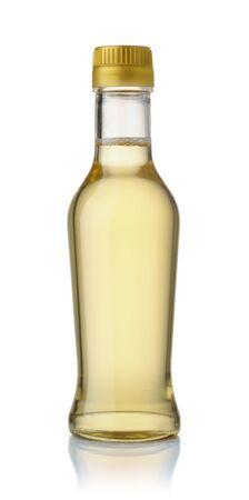 Bottle of rice vinegar isolated on white Stockfoto