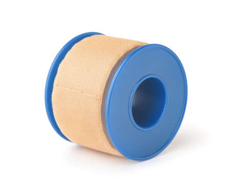 Roll of band tape isolated on white