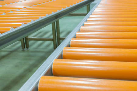 food industry: roller conveyor in food industry Stock Photo