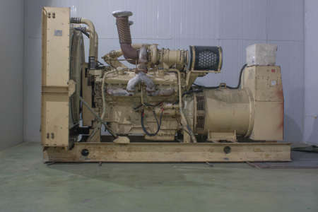 diesel generator: Big electric generator diesel fuel Stock Photo