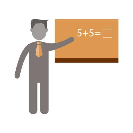 male symbol: Teacher  career  Flat icon vector Design.vector illustratoin