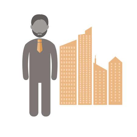 male symbol: businessman career  Flat icon vector Design.vector illustrato