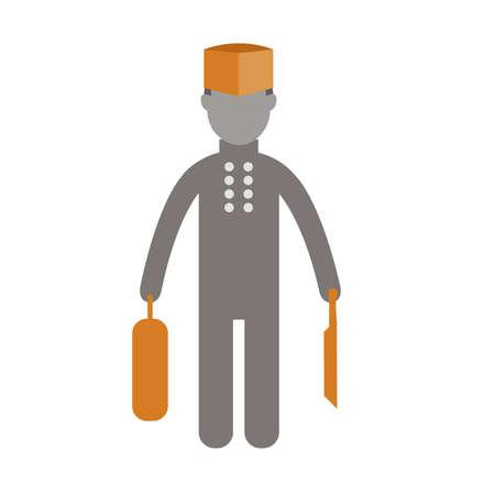 male symbol: chef career  Flat icon vector Design.vector illustratoin