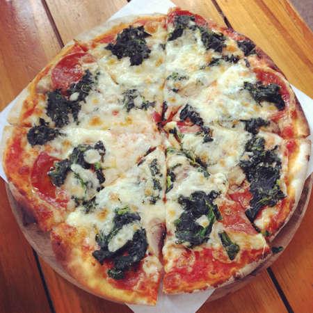 margarita pizza: Margarita Pizza Stock Photo