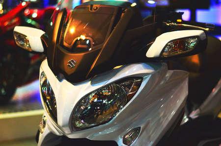 musculine: White Suzuki Bike Stock Photo