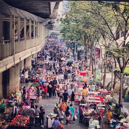 shutdown: Thai uprising  Bangkok Shutdown 2014 Stock Photo