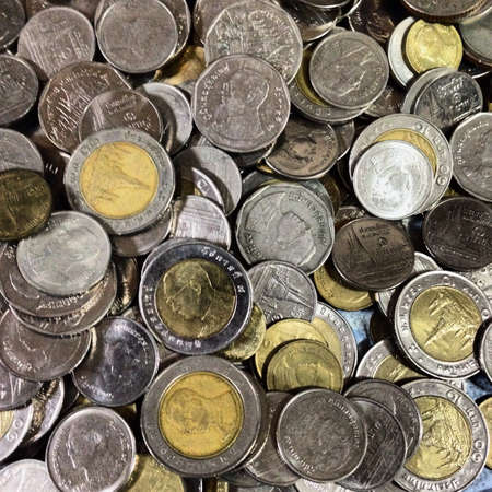 silver: A cluster of Thai coins