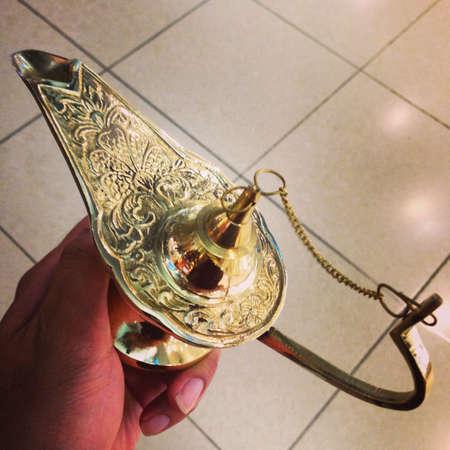 wish: Magical lamp Stock Photo