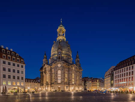 lutheran: DRESDEN, GERMANY - OCTOBER 11, 2015: The Dresden Frauenkirche is a Lutheran church in Dresden, the capital of the German state of Saxony.