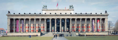 BERLIN, GERMANY - FEBRUARY 2, 2016: The Altes Museum is a museum building on Museum Island in Berlin, Germany. Since restoration work in 201011, it houses the Antikensammlung of the Berlin State Museums. Editorial