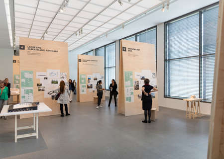 MUNICH, GERMANY - FEB 3 2016: The Pinakothek der Moderne is a modern art museum, situated in the city centre of Munich, Germany. It was designed by German architect Stephan Braunfels