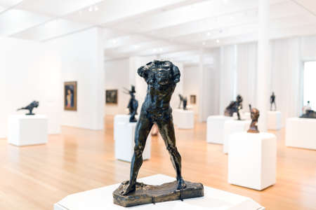 rodin: RALEIGH, NORTH CAROLINA - JULY 21, 2015: The North Carolina Museum of Art is an art museum in Raleigh, North Carolina which opened in 1956 as the first major museum collection in the country to be formed by State legislation and funding.