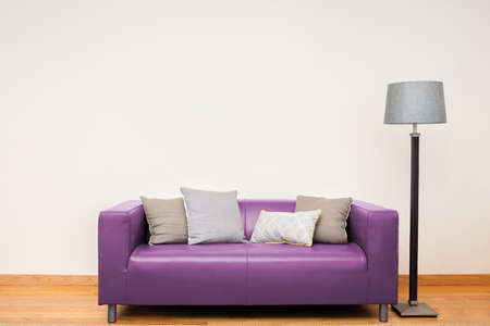 Tuxedo leather sofa in pink.