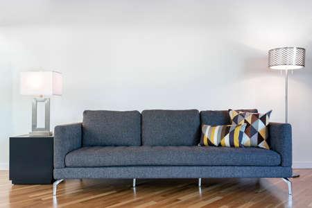 Modern Sofa and pillows.