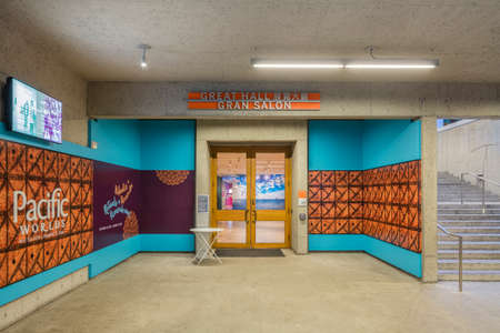 OAKLAND, CA - DEC 5, 2015: The Oakland Museum of California or OMCA (formerly the Oakland Museum) is an interdisciplinary museum dedicated to the art, history, and natural science of California, located in Oakland, California. The museum contains more tha Editorial