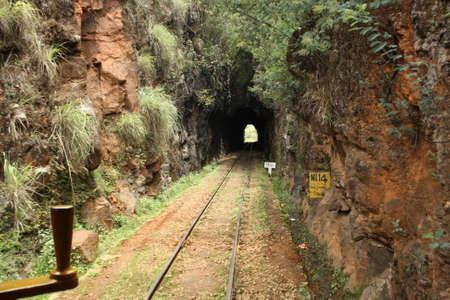 narrow gauge railways: A rail tunnel in the Nilgiri hills
