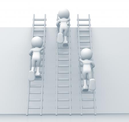 escaleras: Las personas 3d subir escaleras - Esta es una ilustración 3d