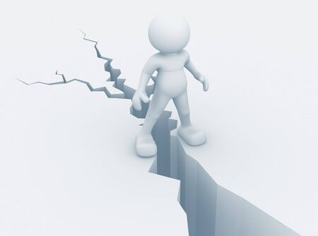3d people and the earth cracked - This is a 3d render illustration Stock Illustration - 14664908