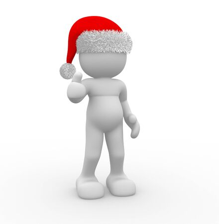 3d people - human character. Santa Claus. 3d render illustration Stock Illustration - 14664947