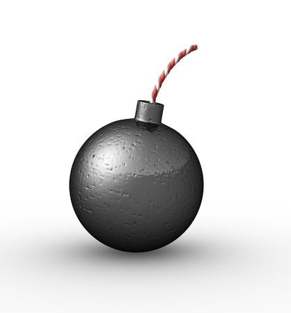 detonating: Bomb on a white background  Stock Photo