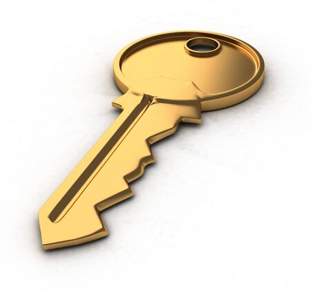 keylock: Key-lock white background This is a3d render illustration