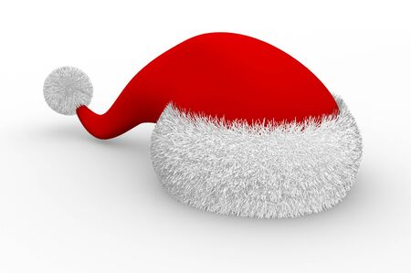Christmas hat  This is a 3d render illustration Stock Illustration - 14717586