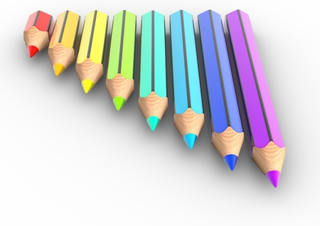 Colorful pencil  This is a 3d render illustration illustration
