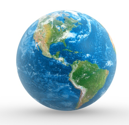 earth space: Earth globe  This is a 3d render illustration Stock Photo