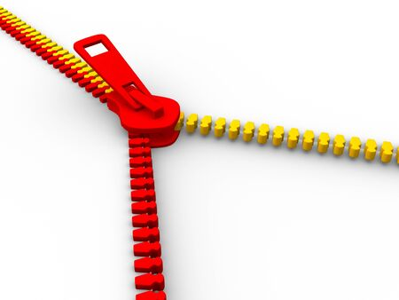 Open zipper  This is a 3d render illustration Stock Illustration - 14717545