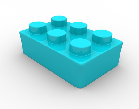 Plastic toy brick - This is a 3d render illustration illustration