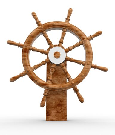 rack wheel: Helm  a white background- This is a 3d render illustration