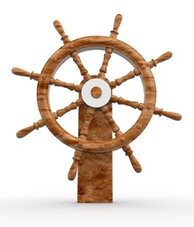 timon barco: Helm un fondo blanco-Esto es una ilustraci�n 3d