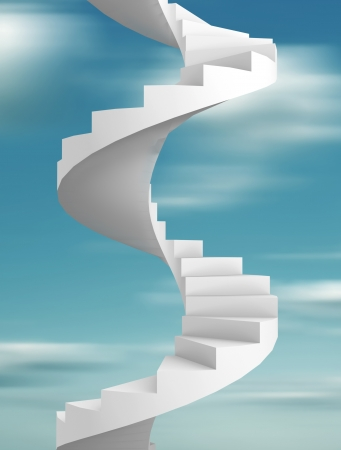 Spiral staircase- This is a 3d render illustration illustration