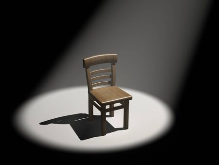 sported: Chair in the limelight  This is a 3d render illustration
