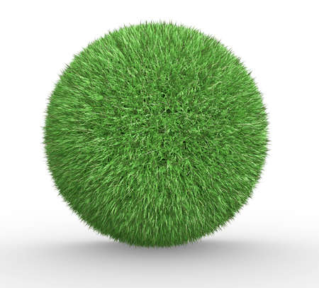 hearth: Sphere of grass - This is a 3d render illustration Stock Photo