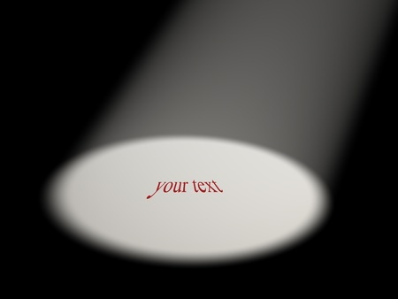 reflector:  Space for text  This is a 3d render illustration