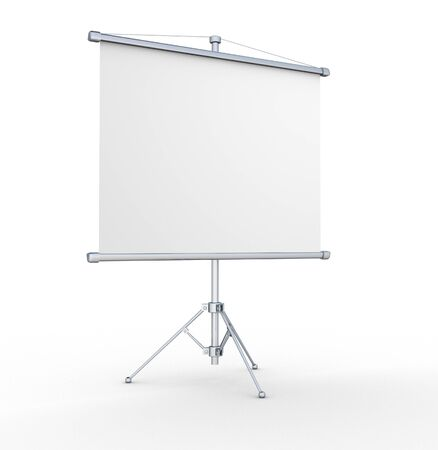 A blank board  3d render illustration illustration