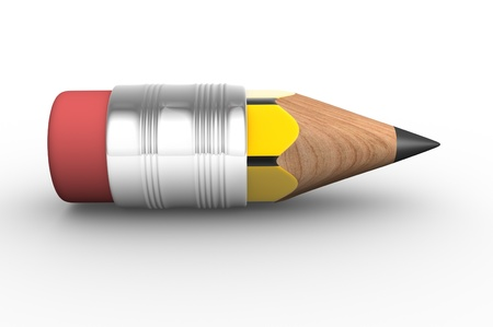 art supplies: Pencil on white background  This is a 3d render illustration  Stock Photo