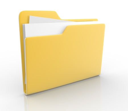 file: Folders with paper  This is a 3d render illustration Stock Photo