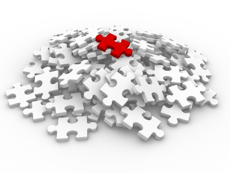 Last piece of puzzle  This is a 3d render illustration Stock Illustration - 14767922