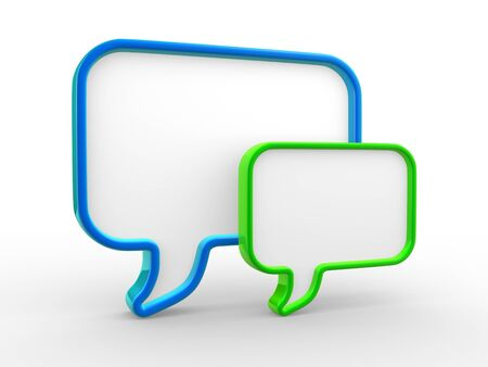 chat icon: Speech bubbles . This is a 3d render illustration