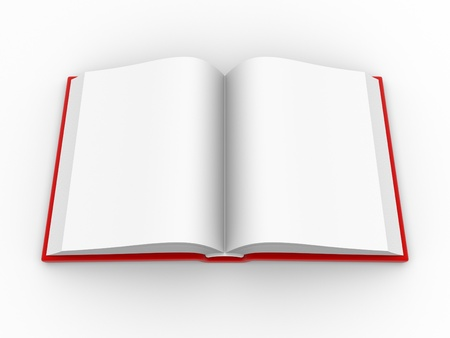 Blank open book. This is a 3d render illustration Stock Illustration - 14802269