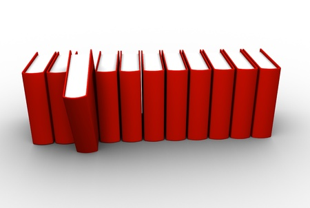 Red book. This is a 3d render illustration illustration